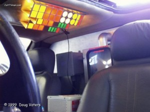 An overhead lighting system used simple Christmas lights and colored gels adorned the roof. Mr. Fusion was by far the most complex system in the car and featured LED fluxing that could be controlled in speed.